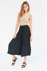 Silence And Noise Silence Noise Sadie Pleated Pull On Culotte Pant Black