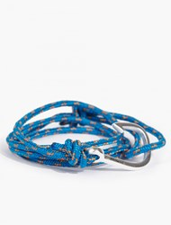 Miansai Blue Cord And Silver Plated Hook Bracelet