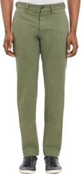 Todd Snyder Twill Straight Leg Trousers Grey