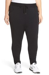 Plus Size Women's Pink Lotus 'Process' Drop Crotch Sweatpants Black