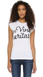 Happiness In Vino Veritas Tee White