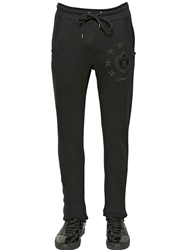 Philipp Plein Patches Cotton Jogging Pants Black