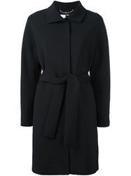 Blumarine Belted Trench Coat Black