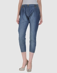 Plein Sud Jeanius Denim Capris Blue