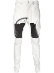Julius Dyed Effect Jeans White