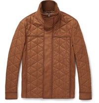 Berluti Quilted Washed Nubuck Jacket Tan