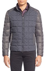Zachary Prell 'Paddinton' Quilted Mixed Media Vest Grey