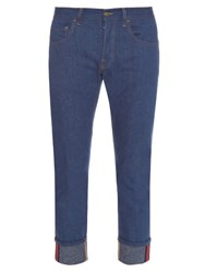 Gucci Tapered Leg Turn Up Jeans Indigo