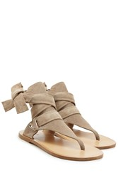 Rag And Bone Rag And Bone Stretch Suede Wrap Sandals Beige