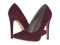 Michael Antonio Lamiss Burgundy Suede Velvet High Heels Red