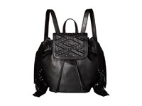 French Connection Cassidy Large Backpack Black Mini Grain Pu Backpack Bags