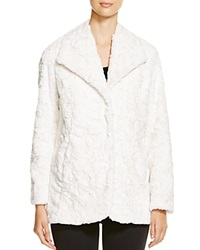 Karen Kane Faux Fur Jacket Cream