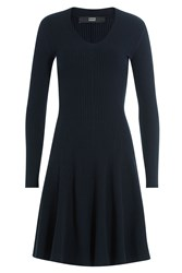 Steffen Schraut Textured Stretch Dress Blue