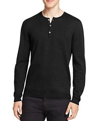 John Varvatos Star Usa Cashmere Blend Henley Sweater Black