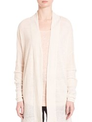 Vince Long Sleeve Linen Cardigan Larache Black