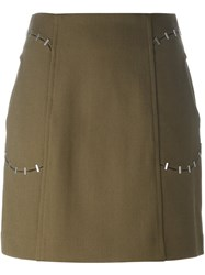 3.1 Phillip Lim Staple Trim Mini Skirt Green