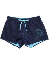 Diesel Navy Or Blue Iroquoi Head Sandy Reversible Swim Shorts
