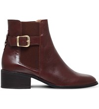 Kurt Geiger Storm Leather Chelsea Boots Brown