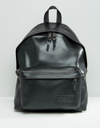 Eastpak Leather Perforated Pocket Backpack Skinpunch Black