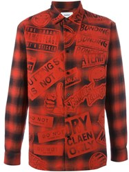 Doublet All Over Print Shirt Red
