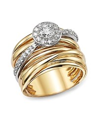 Bloomingdale's Diamond Pave Multi Band Ring In 14K White And Yellow Gold .80 Ct. T.W. White Gold