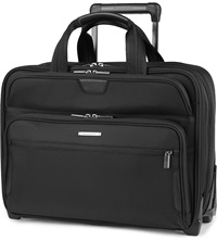 Briggs And Riley Work Large Expandable Rolinging Briefcase Black
