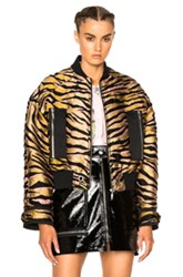Kenzo Tiger Stripes Jacket In Yellow Animal Print Yellow Animal Print