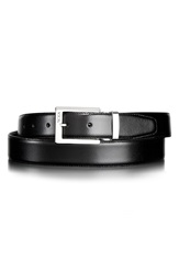 Tumi Reversible Leather Belt Black Brown Nickel Satin