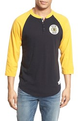 Men's Mitchell And Ness 'Boston Bruins Unbeaten' Three Quarter Sleeve Henley