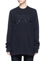 Givenchy 'Power Of Love' Embroidered Slogan Sweatshirt Black