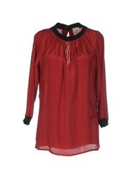 Attic And Barn Attic And Barn Shirts Blouses Women Brick Red