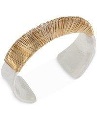 Robert Lee Morris Soho Two Tone Wire Wrapped Cuff Bracelet Two Tone