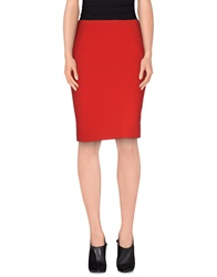 Patrizia Pepe Knee Length Skirts Red
