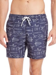 Lacoste Nautical Swim Trunks Navy