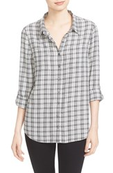Soft Joie Women's Eirene Plaid Roll Sleeve Shirt