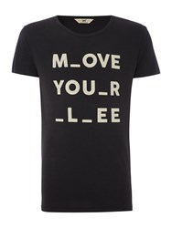 Short Sleeve Move Your T Shirt Washed Black