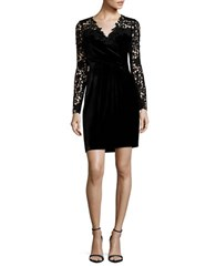 Elie Tahari Blakely Embroidered Accent Dress Black