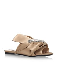 N 21 No. 21 Satin Bow Cat Slipper Shoes Female Nude