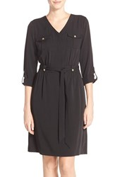 Ellen Tracy Women's Stretch Shirtdress