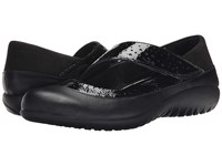 Naot Footwear Aroha Black Crinkle Black Raven Leather Black Velvet Glass Silver Women's Shoes