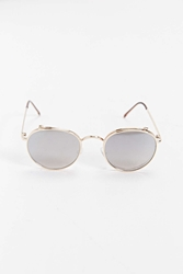 Dusk To Dawn Flip Lens Round Sunglasses Gold