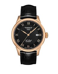 Tissot Mens Le Locle Automatic Watch With Leather Strap Black