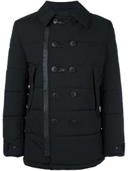 Y 3 Padded Double Breasted Coat Black