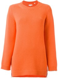 Chinti And Parker Side Zip Jumper Yellow And Orange