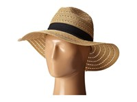 San Diego Hat Company Ubm4454 4 Inch Brim Panama Fedora Hat With Gold Lurex Specs Natural Caps Beige