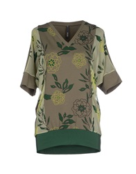 Pianurastudio T Shirts Military Green