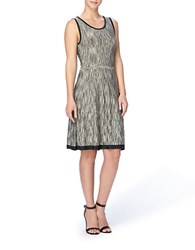 Catherine Malandrino Giniie Space Dyed Sleeveless Fit And Flare Dress Olive Green