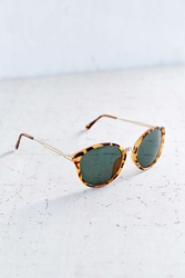 Urban Outfitters Sunday Funday Petite Round Sunglasses Brown