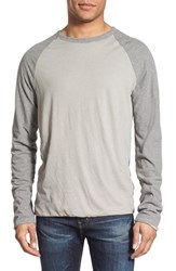 Men's James Perse Raglan Sleeve Crewneck Fleece Top