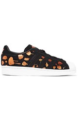 Adidas Originals Superstar Metallic Printed Suede Sneakers Black